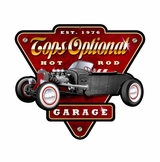 Tops Optional Hot Rod Garage Metal Sign