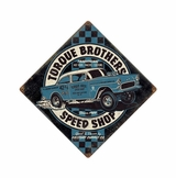 Torque Bros Speedshop Metal Sign