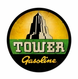 Tower Gasoline Metal Sign