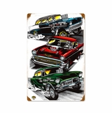 Triple Dragster Metal Sign