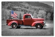 Truck Flag Metal Sign