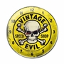 Vintage Evil Yellow Skull Metal Sign