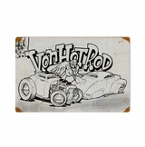 Von Hot Rod Kustom Metal Sign