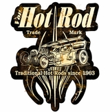 VON HOT ROD SURF SHOP Metal Sign