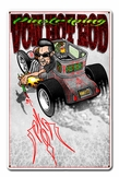 VON HOT ROD TOON Metal Sign