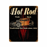 Von Hot Rod Trademark Metal Sign