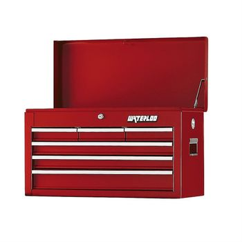 Waterloo Series 6-Drawer Chest in Red