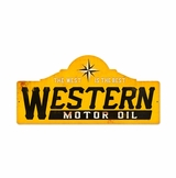 Western Motor Oil Metal Sign