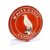 White Eagle Gas Topper Metal Sign