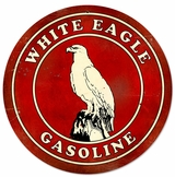 White Eagle Gasoline Metal Sign