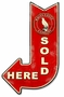 White Eagle Sold Here Arrow Metal Sign