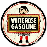White Rose Gasoline Metal Sign