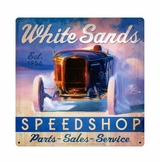 White Sands Speed Shop Metal Sign