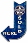 White Star Sold Here Arrow Metal Sign