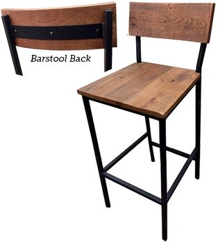 Wood And Metal Shop Stool