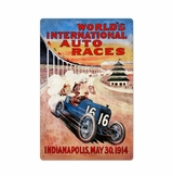Worlds Race Metal Sign