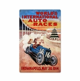 Worlds Races Metal Sign