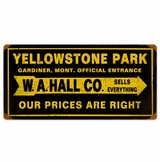 Yellowstone Park Metal Sign