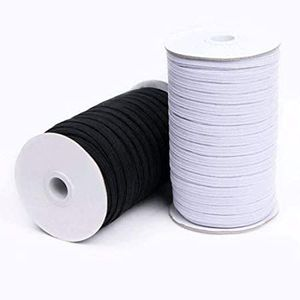 """1/4"""" BLACK OR WHITE ELASTIC: 5 YD INCREMENTS - Free Shipping"""