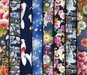8 Blue Asian Fat Quarters #6