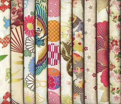 10 IVORY ASIAN JAPANESE FAT QUARTERS #23 (2 1/2 YDS)