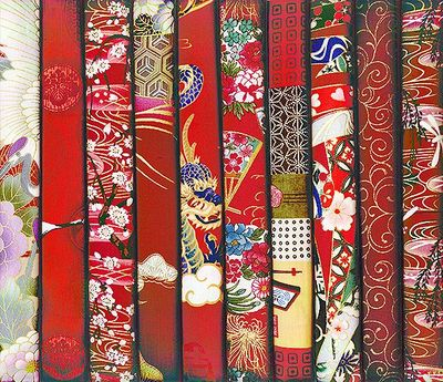 10 RED ASIAN FAT QUARTERS #25