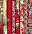 8 RED ASIAN FAT QUARTERS