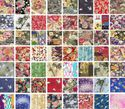 10 Asian Japanese Fat Quarter Variety