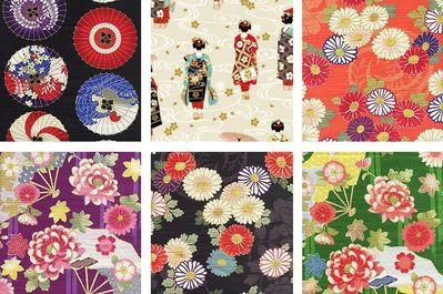 6 Cotton Dobby Fat Quarter Bundle II - 1 1/2 Yards