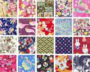 """Asian Fabric Charm Pack in Multi-Colors: Set of 40 - 5"""" x 5"""""""