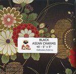 BLACK Asian Charm Pack - 40 - 5x5 Inch Pieces