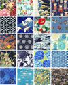 Blue Asian Charm Pack - 40 - 5x5 Inch Pieces
