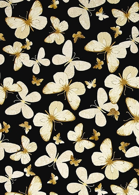 BUTTERFLIES - Gold Metallic Highlights - BTY