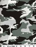 CAMOUFLAGE FABRIC - Grey Black