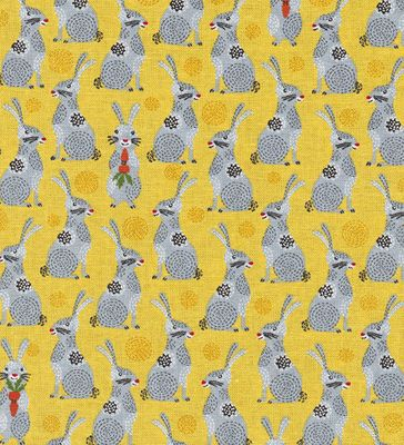 Charming Bunnies: Yellow & Gray