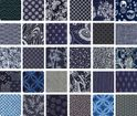 "SOLD OUT! CHARMS: Indigo Blue Traditional Designs - 40 - 5"" Squares"