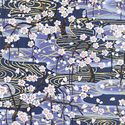 CHERRY BLOSSOM TREES: Blue with Gold Metallic