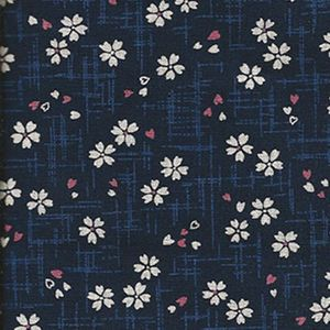 CHERRY BLOSSOMS AFLOAT: Navy Blue