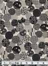 Circles of Japanese Designs - Black, Gray, Cream