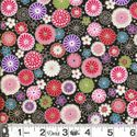 COLORFUL FLORAL COLLAGE: Black