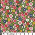 COLORFUL FLORAL COLLAGE: Jade Green