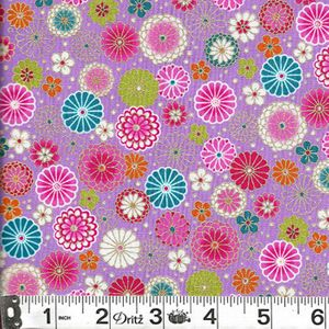 COLORFUL FLORAL COLLAGE: Lilac
