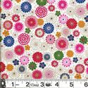 COLORFUL FLORAL COLLAGE: White