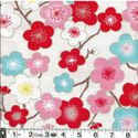 COLORFUL PLUM BLOSSOMS - WHITE