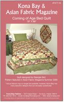 """COMING OF AGE BED QUILT"" Kona Bay Pattern #08"