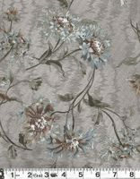 DELICATE FLOWERS: Blue/Gray Japanese Cotton Taupe