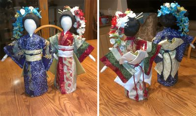 """Dolls in Kimonos"" By Maureen & Karen in WI"