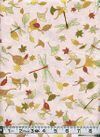 DRAGONFLIES & AUTUMN LEAVES - Blush Pink with Gold