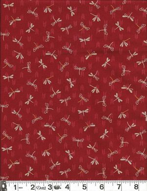 DRAGONFLIES -  Red