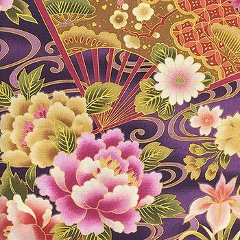 FANS & ASIAN FLORALS: Purple - BTY